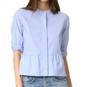 Madewell Blue Peplum long sleeve Small